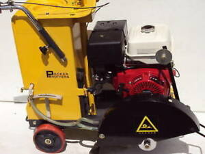 New Packer Brothers 16 Walk behind Concrete Saw Honda