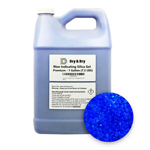 1 Gallon 7 5 Lbs dry Dry Premium Blue Indicating Silica Gel Desiccant Beads