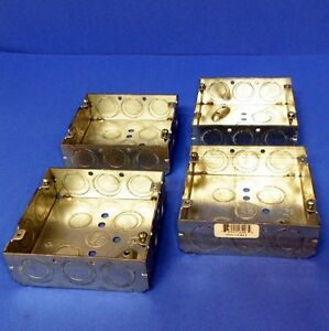 Thomas And Betts 1 2 3 4 E Square Outlet Box 72151 nnb Lot Of 4
