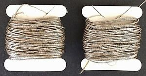 French Antique 1930s Silver Plated 4 Ply Twist Metal Thread 20 Yds Embroidery