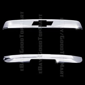 For Chevy Tahoe 2007 2013 Chrome Top Bottom Liftgate Tailgate Covers Logo Cut