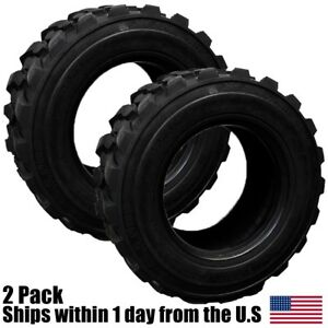 2 New 12ply 12x16 5 Skid Steer Tires Fits Bob cat Cat Deere Case New Holland