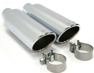 19303347 Dual Borla Performance Chrome Exhaust Tips New