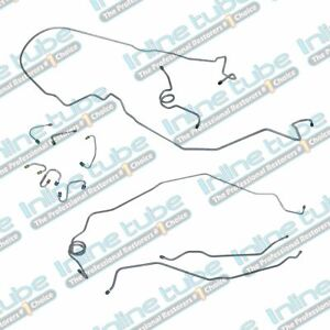 1970 Chevrolet Camaro Power Disc Brake Line Set 11pc Lines Tubes Oe