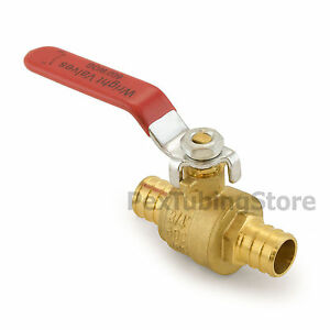 60 3 4 Pex Crimp Style Shut off Brass Ball Valves For Pex Tubing Full Port