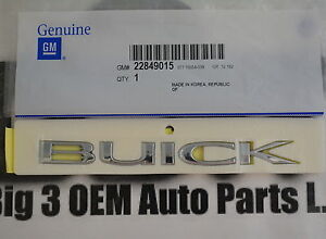 2010 2013 Buick Lacrosse Allure Rear Compartment Buick Nameplate Emblem New Oem