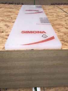 New Polypropylene Sheet 1 X 13 X 48 Inches natural easy To Machine simona