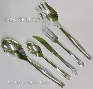252 Plastic Silver Fork spoon knives serving Tools Cutlery Look Of Silverware