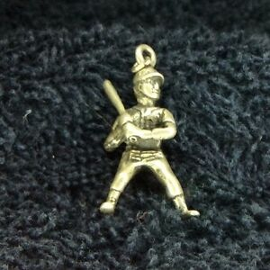 Sterling Silver Scrap Not 3 Gram Baseball Player At Bat Charm