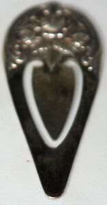 S Kirk Son Book Mark Antique Sterling Silver C1900