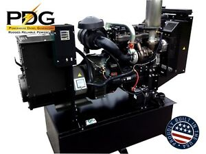 55 Kw Diesel Generator Perkins 100 Gallon Fuel Tank 2 Wire Auto Start