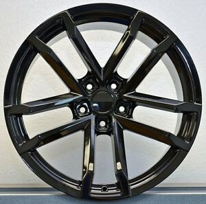 20 10 11 Camaro Zl1 Staggered Gloss Black Fits For 5th 6th Gen Wheels Rims