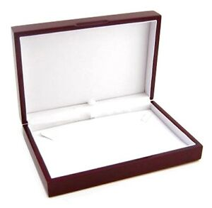 6 Rosewood Small Necklace Pendant Or Chain Jewelry Display Gift Boxes