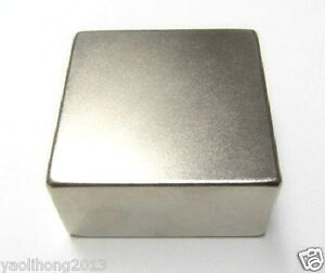 N52 Neodymium Magnet 2x2x1 Rare Earth Magnets Imanes Fuertes Block 50 X50 X25mm