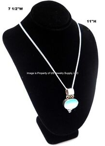 Black Necklace Pendant Chain Display Bust 7 1 2 w X 5 1 8 d X 11 h