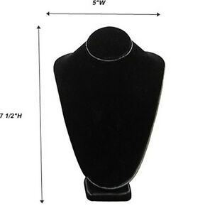 Black Necklace Pendant Chain Display Bust 5 w X 4 1 8 d X 7 1 2 h