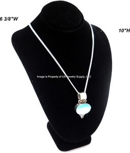 Black Necklace Pendant Chain Display Bust 6 3 8 w X 4 1 2 d X 10 h