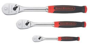 Gearwrench 81207f Cushion Grip 84 Tooth Ratchet Set 3 Pc