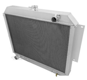 1966 1970 Dodge Monaco 7 2 V8 Aluminum 3 Row Champion Radiator 2 12 Fans