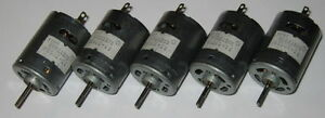 5 X Mabuchi Rs 385sh Motors Knurled Shaft 12v Dc 12500 Rpm Hobby Motors