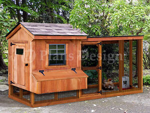 Chicken Coop Plans With Kennel Run Material List Included Design 60410sl