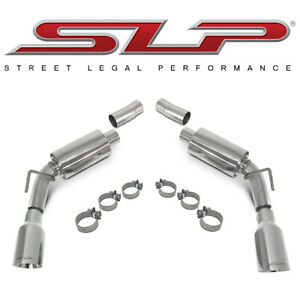 2010 2015 Camaro V6 Slp Loud Mouth Ii Axle Back Exhaust With 4 Tips Slp 31202