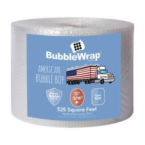 Bubble Wrap 3 16 Small Bubbles 525 Ft Long 12 Wide Perforation Every 12
