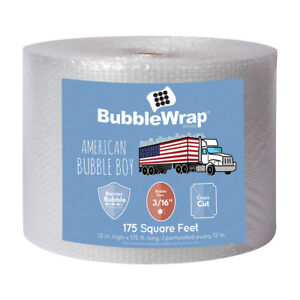 3 16 Small Bubbles Bubble Wrap 175 Long 12 Wide Perforated Every 12