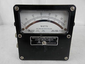 Weston Watts Meter Model 432 W Calibrated Sticker