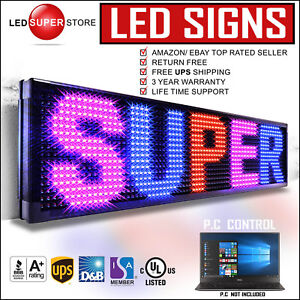 Led Super Store 3col rbp pc 22x136 Programmable Scrolling Emc Display Msg Sign