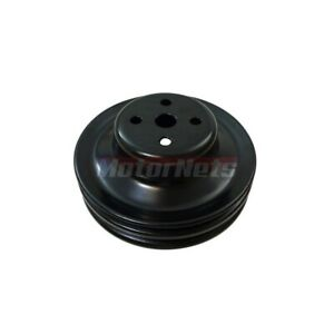 1965 66 Sb Ford 289 302 Black Steel Double 2 V belt Groove Water Pump Pulley