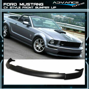 For 05 09 Ford Mustang V8 Cv2 Style Polyurethane Front Bumper Lip Spoiler Pu