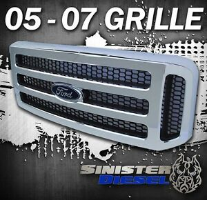 F250 F350 Chrome Ford Superduty Grille Super Duty Grille