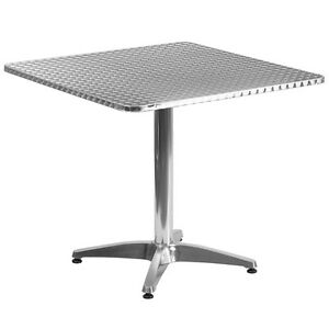 31 5 Square Aluminum Indoor outdoor Restaurant Table With Base