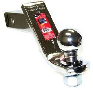 4 Drop Hitch Receiver Chrome Trailer Ball Mount 2 Receiver With 1 7 8 Ball