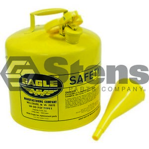 Metal Safety Diesel Can Eagle 5 Gallon With Funnel