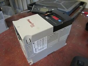 Allen bradley Powerflex 40p Ac Drive 22d d2p3n104 1 0hp 3ph Out 0 460v Used