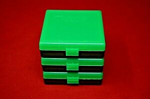9mm  380 (3 PACK) PLASTIC STORAGE AMMO BOXES (ZOMBIE GREEN) BERRY MFG