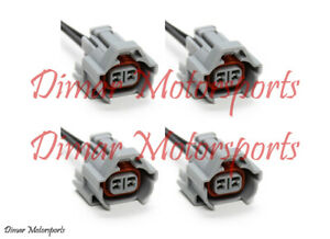 4 Denso High Impedance Female Fuel Injector Connector Electrical Plug Pigtail