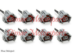 8 Denso Female Fuel Injector Connector Electrical Plug Clip Pigtail