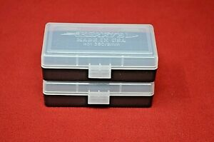 BERRY'S AMMO BOX (2) CLEAR 9MM 25 30 380 ACP 9x18 MAK 30 Luger 50 round MPN 401