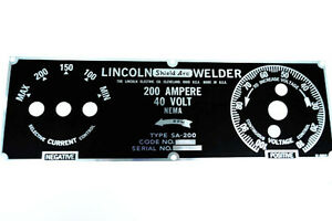 Lincoln Sa 200 5 Position Nameplate M8803 Bw688