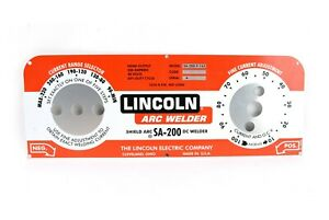 Lincoln Sa 200 Redface Nameplate M10926 Bw116