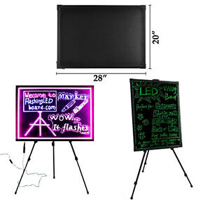 32 x24 Flashing Illuminated Fluorescent Led Writing Board With Tripod Stand