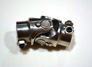 New Polished Stainless Steel Ss Steering Shaft U joint 3 4 Dd X 3 4 Dd Swivel