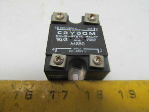 Crydom A4850 Solid State Relay Industrial Mount 90 280v In 280 480v Out 50a