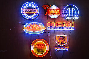 My Wholesale Collection Of Seven 7 Mopar Hemi Dodge Neon Signs Plymouth Viper