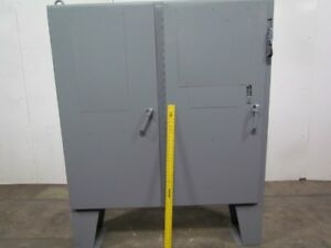 Type 12 Electrical Enclosure Box 2 Door 60tx61wx12d W floor Stand 60a Disconnect