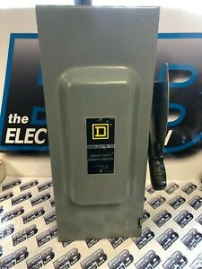 Square D Hu363 100 Amp 600 Volt Nema 1 Disconnect F Series