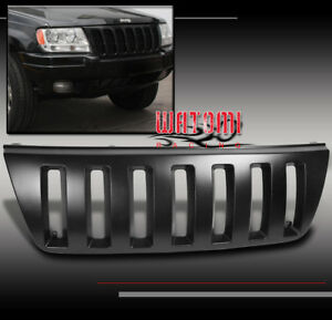 99 00 01 02 03 04 Jeep Grand Cherokee Sport Front Upper Black Abs Grille Grill
